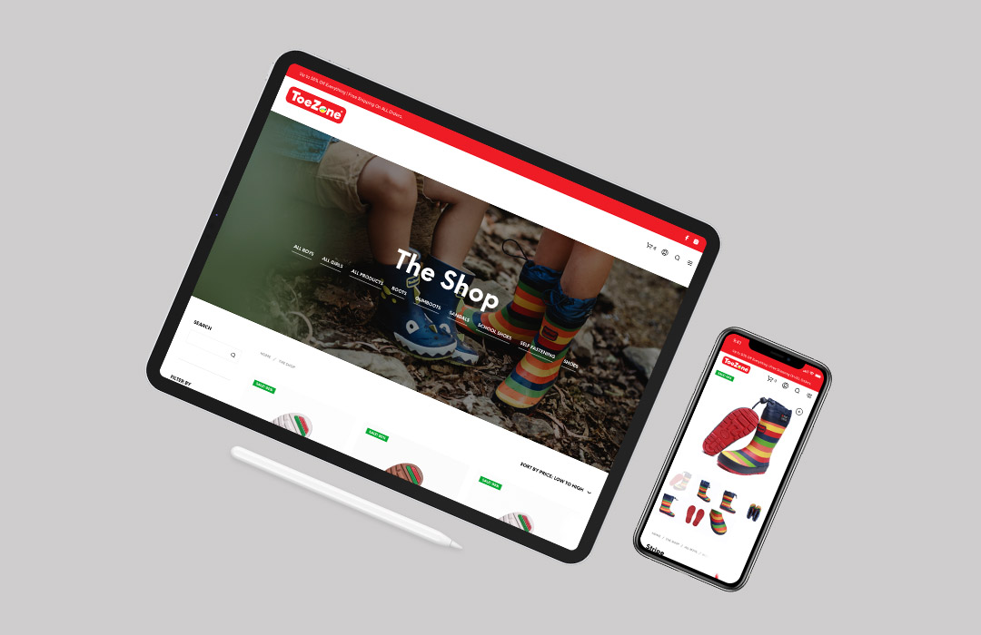 ToeZone eCommerce Site By The Commute
